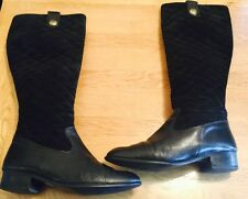 Ladies Boots Size 6.5 By Massimo Baldi Made In Italy 100% Leather Knee High