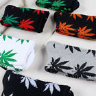 Women Men Marijuana Long Cotton Sport Weed Leaf Socks Ankle Sock Crew Unisex New