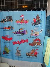 Wacky Races Shower Curtain Dick Dastardly Muttley Penelope Pitstop