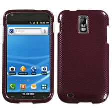 For T-Mobile Samsung Galaxy S II 2 T989 HARD Case Phone Cover Red Carbon Fiber