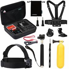 10-in-1 Accessories Kit GoPro Hd Hero 4 Session Hero3+ Hero3 Hero2 & Hero+Lcd