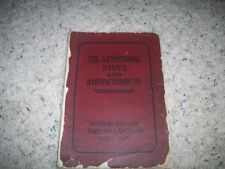 1909 ARMSTRONG STOVE & MFG COMPANY SALES CATALOG ADVERTISING, BALTIMORE,MD