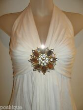 Sky Brand Clothing S Top Snowflake White Rhinestone Crystal Club Fall Party