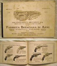 CATALOGO FABBRICA BRECIANA DI ARMI - ANNO 1906