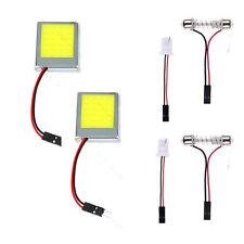 2 Pezzi T10 24SMD LED Pannello Auto Dome Luce Lampade Adattatore 12V Bianco