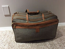 Hartmann Luggage Tweed Belting Leather Expandable 3-Zip Carry On Soft Bag
