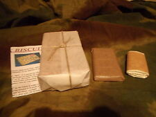 "RATION SET - ""HARD TACK BISCUITS"" / ""CHOC "" / ""TOILET ROLL"" - WW1 / WW2"