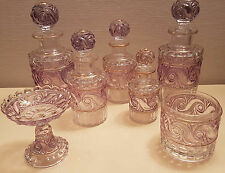 CRISTAL BACCARAT 1900 SPLENDIDE GARNITURE TOILETTE 7 PIECES