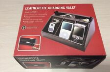 Leatherette Charging Valet 5010-01 Charger Valet 3 Compartments