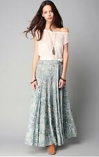 NWT RALPH LAUREN DENIM&SUPPLY WOMENS LADYS BLUE MULTI COTTON FLORAL SKIRT SIZE M