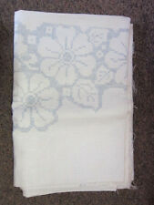 "Bucilla 60""x80"" Cream / Ivory Tablecloth with Floral Design to be Cross Stitched"