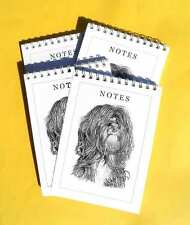 Tibetan Terrier Dog Pack of 4, A6 Note pads Gift Set