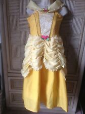 Deluxe Princess Yellow Belle Costume Gown Dress Disney