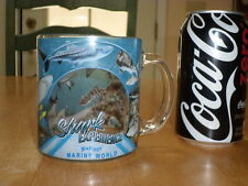 SIX FLAGS MARINE WORLD - SHARK EXPERIENCE, GLASS Coffee Cup, SEE -THRU IMAGES