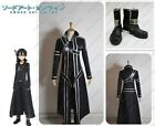 Sword Art Online Kazuto Kirito Kirigaya cosplay Costumes Shoes Full Set New