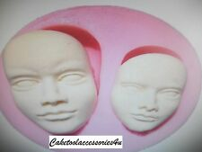 Baby Face Cake Mould Facial Head Human Silicone Icing Sugarcraft Fimo Chocolate