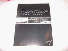2004 Randall Amps Catalog *RARE* X2 Dimebag Darrell