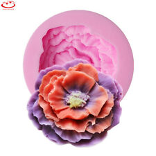 3D Peony Flower Shape Silicone Cake Mold Fondant Mold DIY Cake Decorating Tool
