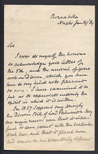 Prime Minister WE Gladstone to Signor Marescalchi 1889 on Marriage Signed Letter