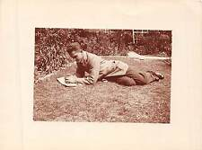 "R.A.F. "" demob "" , 1920, RP, young man in garden,     QQ1611"
