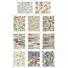 11 Patterns/Sheet Stamp Nail Art Water Transfer Decal Letter Word Theme Tips
