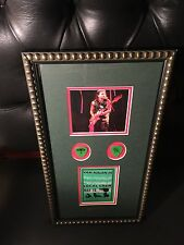 VAN HALEN AUTOGRAPHED / SIGNED Backstage pass w/ Stage used Guitar Picks - 1998