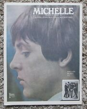 VINTAGE 1965 THE BEATLES SHEET MUSIC MICHELLE AWESOME SHAPE RARE ITEM HERE