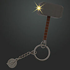 Disney Store Super Hero Thor Hammer Light Up Car Keychain avengers