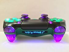 Sony PS4 Dualshock 4 Custom Wireless Controller-Joker-Purple & Green +LED+On/Off
