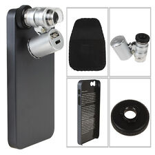 Fashion 60X Zoom Cellphone Microscope Lens for iPhone 5 5S LED Cellphone Case