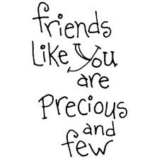 INKY ANTICS RUBBER STAMPS FRIENDS LIKE YOU ARE PRECIOUS AND FEW STAMP