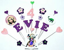 Any name and age tangled / rapunzel birthday cake topper