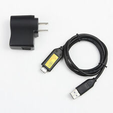 1A USB AC Power Adapter Battery Charger Cord For Samsung P1000 P800 SH100 Camera