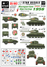 Star Decals, 35-942,Decal for Hungarian Uprising 1956 #1.T-34-85, BTR-40 APC