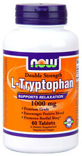 New - NOW Foods L-Tryptophan 1000 mg 60 Tabs