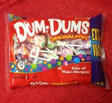 Dum Dums Original Pops Candy Lollipops Assorted Flavors 6 Oz Bag New Fresh