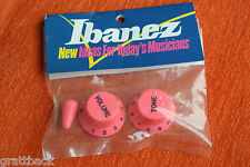 Boutons IBANEZ guitare Knobs JEM VAI universe RG ROSE / PINK - OLD STOCK GENUINE