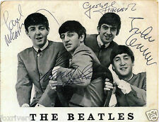 THE BEATLES Signed Photograph - Rock & Pop Group - preprint