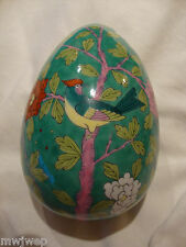 HEREND LARGE EGG COVERED BONBONNIERE PAINTED MACV Pattern + Artist Signed