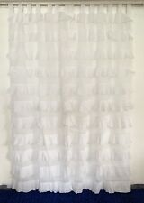 French Shabby Chic Curtains Ruffled White Girls Room Nursery Tab Top 110x220cm