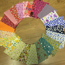 Vintage and Modern Fabric scraps remnants cotton and polycotton
