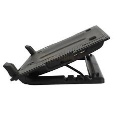 "9-17"" Laptop PC 2 USB Cooling Powerf 1 Fan Cooler Adjustable Stand Pad Black"