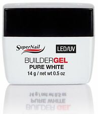 SuperNail LED/UV Builder Gel Pure White - .5oz (51606)