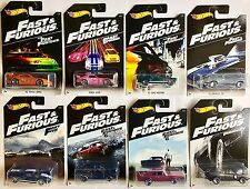 Hot Wheels 2016 FAST & FURIOUS SERIES Set of 8 Cars NEW Honda Dodge Ford more