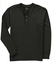Wolverine - Men's L - NWT - Black Burke Gravel-Washed 100% Cotton Henley Shirt