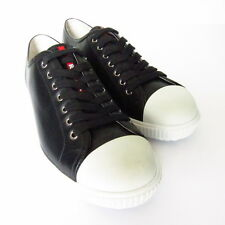 S-475257 New Prada Calzature Uomo Black Sneakers Shoes Size US-9 /marked 8