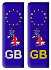Pair GB Euro Number Plate Vinyl Car Stickers EU European Auto Decal Badge A2 KL