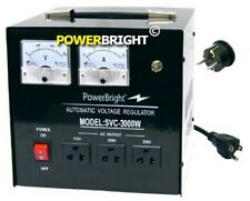 POWERBRIGHT SVC3000 VOLTAGE REGULATOR 3000 WATT AUTOMATIC SERVO MOTOR AC NEW