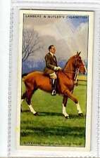 (Jj683-100) Lamber & Butler, Horsemanship,Breaking From Walk To Trot,1938 #13