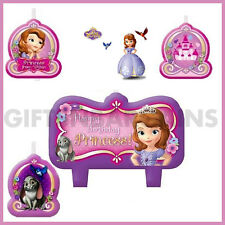 DISNEY SOFIA THE FIRST BIRTHDAY PARTY SUPPLIES 4 PC CAKE CANDLE SET TOPPER